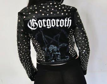 Gorgoroth Studded Leather Jacket