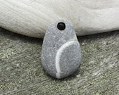 Natural FOSSIL Pendant Top Drilled Beach Stone Pendant
