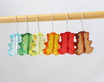 Gummi Bears -  Muted Rainbow Colors Collection - Six Snag Free Stitch Markers - Fits Up To 6.5 mm (10.5 US) - Limited Edition