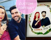 CUSTOM Love Portrait - Original painting of YOUR special photograph