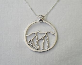 Mt. Mansfield Necklace, Sterling Silver