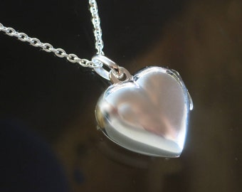 Sterling Silver Heart Shaped Small Locket