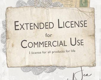 Extended License for Commerical Use by Jen Ulasiewicz Designs / digital scrapbooking / crafting / altered art / mixed media collage