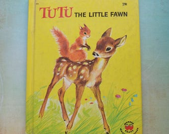 Vintage 1964 Tutu the Little Fawn Wonder Book