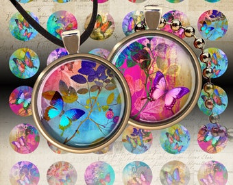 """Circle Images SWEET MOMENTS, three sizes of 1"""" (25mm) + 20 mm + 1.5"""" Digital Sheets Printable Download for pendants, bottle caps, bezel cabs"""
