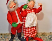 Annalee Doll Santa Claus Mrs Claus Large Sized Mobilitee 1971 29 Inches Tall