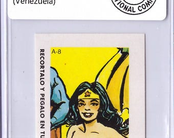 1964 WONDER Woman A-8 DC Comic ERROR Sticker 18010767