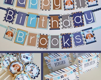Puppy Birthday Party Decorations Package Fully Assembled | Puppy Party | Puppy Themed Birthday | Dog Birthday Party | Blue Dog Party |
