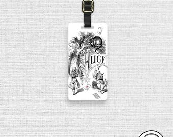 Luggage Tag  Alice in wonderland Adventures in Wonderland Tag -  Metal Tag Single Tag