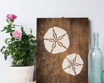 Sand Dollar Nautical Wall Art Stencil - Reusable Stencils - DIY Home Décor - Easy DIY