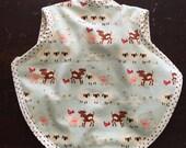 Baby bib, toddler bib, bapron, animals bib, tie bib, terry bib, waterproof bib, boy bib, girl bib, farm animals fabric, 6-18 months, bibs