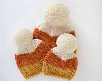 Candy Corn Beanie Pattern