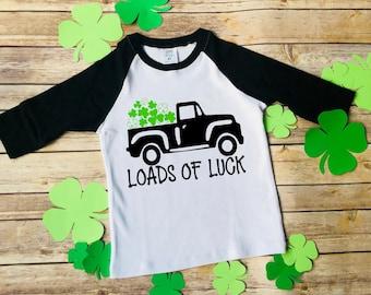 St Patricks day shirt, Boys St Patricks day shirt, boys St Patricks Day truck with clovers shirt, St Pattys day shirt, truck with clovers