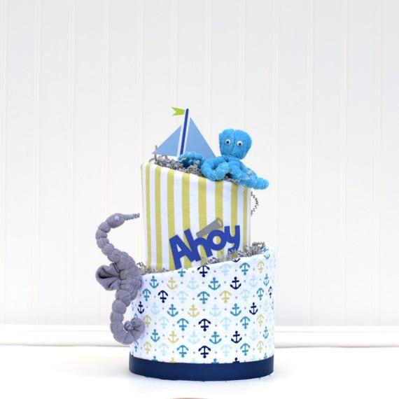 Ahoy It's a Boy Blossom Cake - 2-Tier