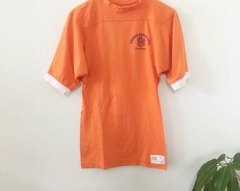 1970's Orange Auburn Athletic Tee