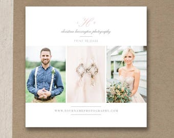 Photographer Print Release Template - Photoshop Marketing Templates - Copyright Form for Wedding Photographers - Bittersweet Designs