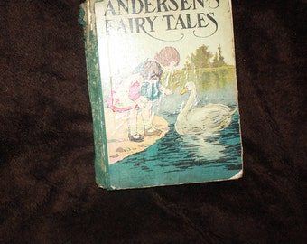vintage antique Andersens Fairy Tales 1926 book illustrated