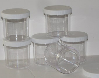 12 sets  6 oz  clear slime jars containers party favors gifts FREE shipping 12 piece