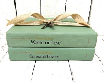 Green Books, Vintage Books, Old Book Decor, Antique Books, Home Office Decor, Instant Library, Old Book Set, Love Books, Shabby Cottage Chic