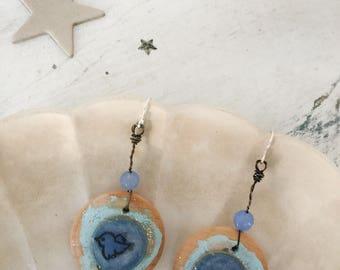 tweet~upcycled earrings, repurposed earrings, assemblage, diy earrings, bird earrings, dangle earrings