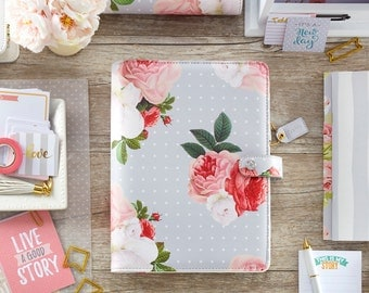 Gray Floral Webster's Pages Color Crush A5 Planner Kit (IN STOCK) Free Washi Tape with this order (A5PK001-SF)