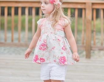 Janie Lou Dress PDF Sewing Pattern, including sizes 12months-12years, Girls Dress Pattern