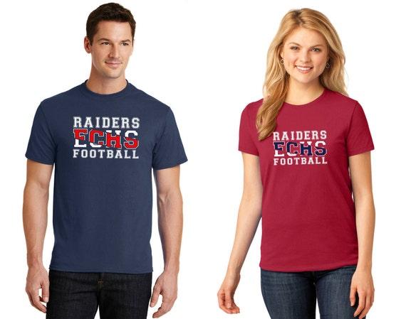 East Carter High School Football Team Spirit T-Shirt Split Text Design