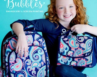 Monogrammed Paisley Girls Backpack Set Emerson lunch box