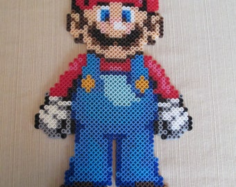 Mario, super mario, Super Mario brothers, Mario perlers, mario perler pieces, perler pieces, perler art, perlers, video games, video games