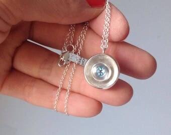 Sterling Silver Pendant Necklace Alicante, London Sky Blue Topaz , Gemstone Necklace , Minimalistic Jewelry, December Birthstone Necklace