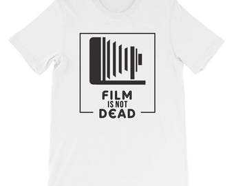 Film Is Not Dead T-shirt, a perfect gift for a phorographer!