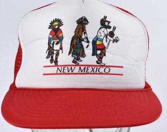 NEW MEXICO Kachina Dancer Mesh Trucker Snapback Cap