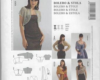 Burda bolero and stola pattern #7118, includes all sizes (10-24)