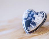 RESERVED Regency Rose Plume Agate Ring in Sterling Silver - Heart Ring - Collector Stone - Forests of the Heart