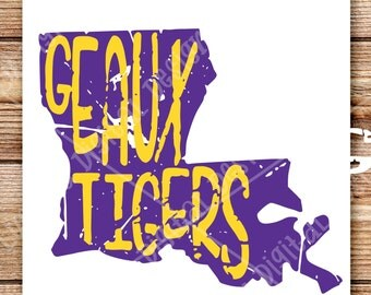 Distressed State - GEAUX TIGERS