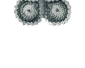 Vintage PDF Pattern for Butterfly Placemat/Doily