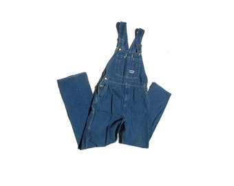 Bid Smith Overalls | unisex vintage denim jean coveralls 80s 1980s country hip hop urban high fashion one piece mens womens large L XL