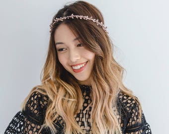 rose gold berry flower crown // golden flower head piece / wedding flower crown / bridesmaid gold flower crown / metallic headband