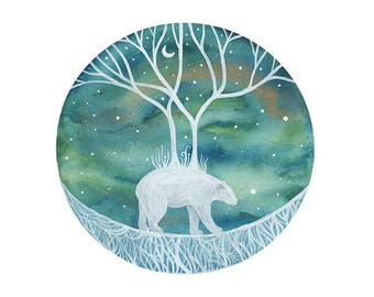 Animal Watercolor// nursery art // The Great Journey