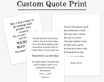 Personalized Gift for Mom, best selling items for her, Custom Quote Print, typography wall art