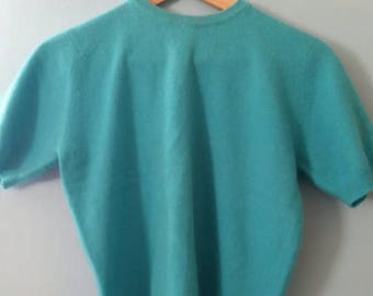 Vintage Lambswool Turquoise Sweater