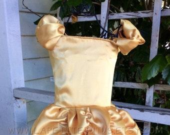 Satin princess dress, birthday dress, satin dress, ruffled dress, girls dress, toddler dress, baby dress, photo prop, makeover dress