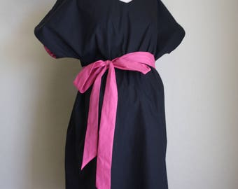 Winterfell LINED Maternity Hospital Gown - Solid Black Outer Layer  - Choose Your Lining Color- by Mommy Moxie on Etsy