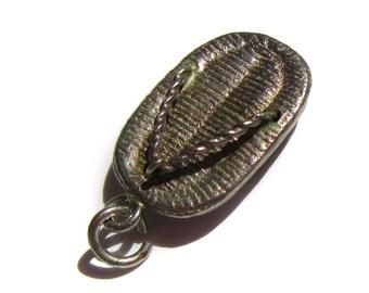 Sterling Silver Geta Sandal Charm for Charm Bracelets Vintage Charm Japan Japanese Sandal