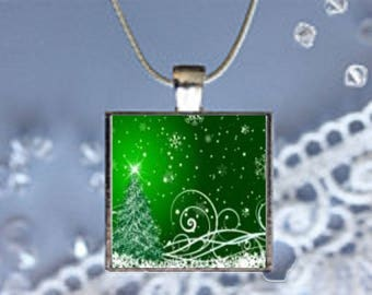 Pendant Necklace Christmas Tree