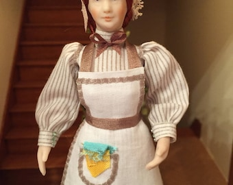 OOAK 1/12 th scale dolls house doll- House keeper