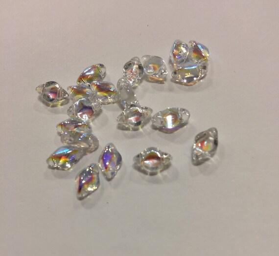 Crystal AB 8 x 5mm GemDuo bead Approx 8g