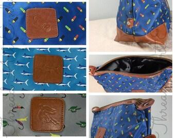 Men's Toiletry Dopp Kit Bag for Travel Shaving Bag Golf Fly Fishing Shotgun Shell Hunting Groomsman Gift with Monogram or Name Embroidered