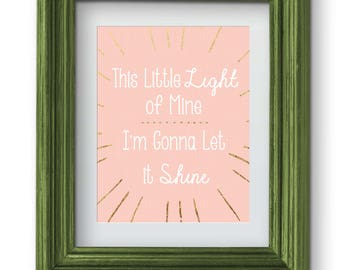 This Little Light of Mine Pink Print {Digital}
