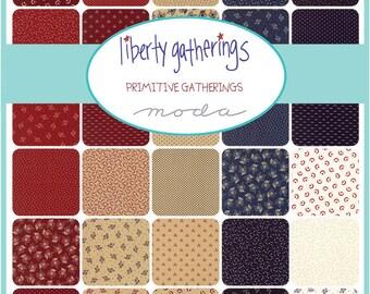 Liberty Gatherings Prints Fat Quarter Bundle by Primitive Gatherings for Moda